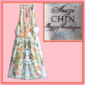 Suzi Chin Halter Dress